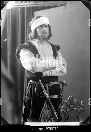 Einar Fröberg ich Monna Vanna, Svenska teatern 1903. Glasnegativ 143 Einar, Fröberg rollporträtt - SMV-GF055 - Stockfoto
