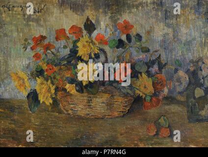 Paul Gauguin (1848-1903). Französische Maler. Ein Blumenkorb, 1884. National Gallery. Oslo. Norwegen. - Stockfoto