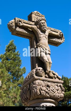 Cruz De Tejeda - steinernes Kreuz Kennzeichnung Zentrum der Insel. - Stockfoto