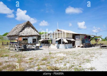 Tebaronga Siedlung auf Kanton Insel, Phoenix Islands, Kiribati - Stockfoto