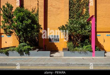 Der Pocket Park, ein bestäuber - freundliche Garten, von Zandra Rhodes und Joe Swift Greenwood Theater, Southwark, London, England, UK konzipiert - Stockfoto