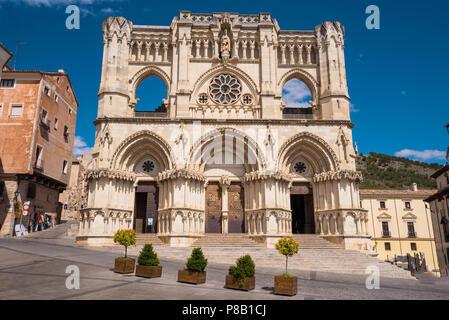 Das Wahrzeichen der Stadt Cuenca Kathedrale in Castilla la Mancha, Spanien. - Stockfoto