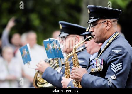 London, Großbritannien. 10. Juli 2018. RAF 100. Parade zur Feier des 100. Jahrestages der Errichtung der Royal Air Force Credit: Amanda Rose/Alamy leben Nachrichten - Stockfoto