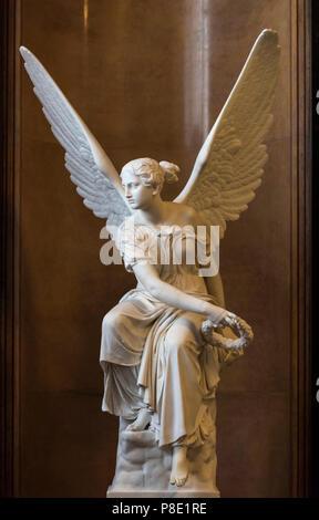Berlin. Deutschland. Kranzwerfende Viktoria (Sitzt Victoria werfen einen Kranz), 1838-45, Skulptur von Christian Daniel Rauch (1777-1857), aus Berlin Cit - Stockfoto