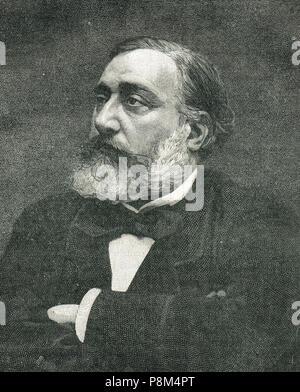 Léon Gambetta, französischer Staatsmann, Widerstand während des Deutsch-Französischen Krieges organisiert. Um 1870 s - Stockfoto