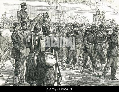Die Evakuierung der von Metz, 29. Oktober 1870. Die Belagerung von Metz, während des Deutsch-Französischen Krieges - Stockfoto