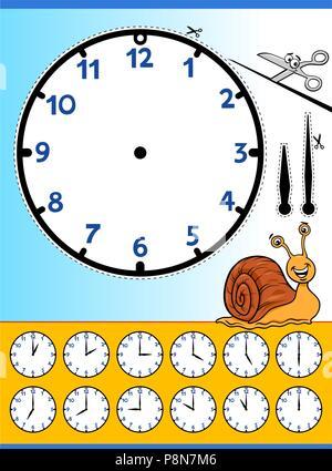 Erzählte Zeit Arbeitsblatt für Schulkinder, die Zeit zu ...