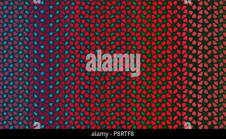 Pattren mit abstrakten Berry und Curly Gradienten. 2D-Darstellung.