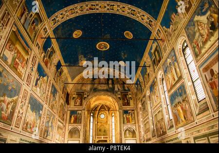 Cappella degli Scrovegni Kapelle Cappella degli Scrovegni in Padua, Italien - Stockfoto