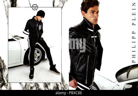 2010er Jahre UK Philipp Plein Magazin Anzeige