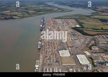 Luftbild der Hafen von Felixstowe - Stockfoto