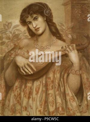 Rossetti, Dante Gabriel - La Mandolinata - Stockfoto