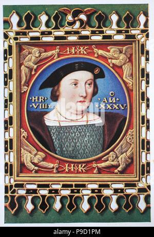 """Henry VIII (28. Juni 1491 â € """"28. Januar 1547), war König von England von 1509 bis zu seinem Tod, digital verbesserte Reproduktion einer Vorlage drucken aus dem Jahr 1900 - Stockfoto"""