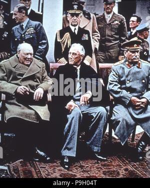 Zweiter Weltkrieg (1939-1945), Konferenz von Jalta im Februar 1945, war es die Begegnung zwischen Roo... - Stockfoto