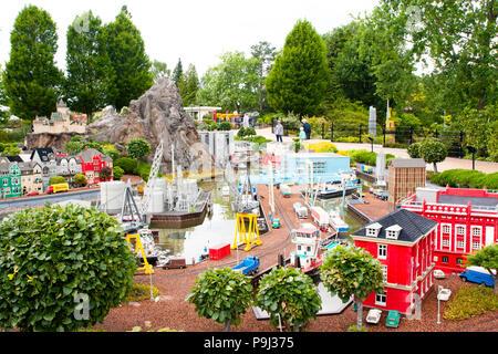Billund Dänemark, 15. Juni 2018 - Legoland in Billund Dänemark - Stockfoto