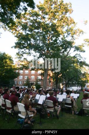 USA, West Orange, New Jersey, State Park, School Band.