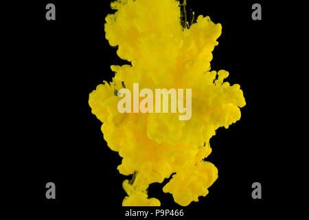 Mehrfarbige Abstraktion auf schwarzem Hintergrund, Studio Light - Stockfoto