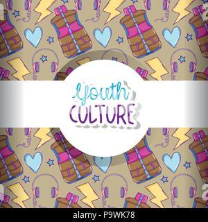 Jugend Kultur Muster Hintergrund - Stockfoto