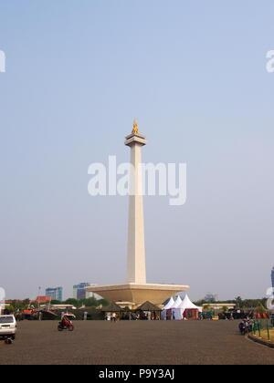 TUGU MONUMEN NASIONAL. Reisen in Jakarta, die Hauptstadt Indonesiens. 4. Oktober, 2012 - Stockfoto