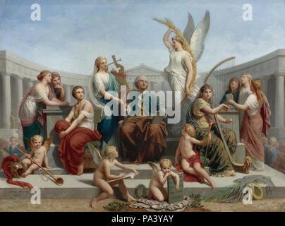 Picou Henri Pierre - die Apotheose von Mozart - Stockfoto