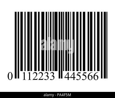 Bar Code auf einem weissem Hintergrund - Stockfoto
