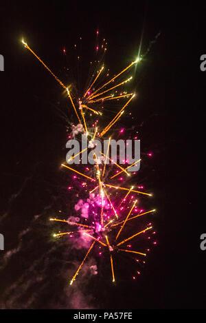 Feuerwerk, San Juan Feier in Barcelona, Spanien
