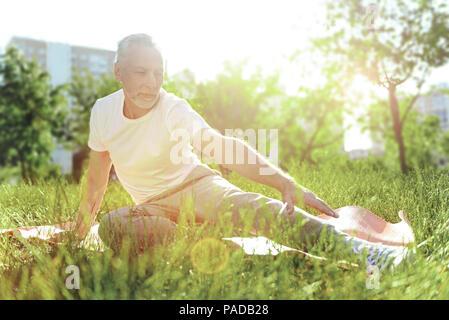 Ruhige entspannte Zeit verbringen eine ruhige Rentner - Stockfoto