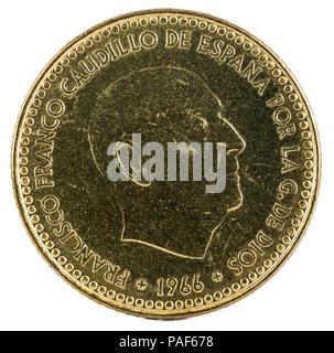 Eine Alte Spanische 5 Ptas Münze Stockfoto Bild 173324095 Alamy