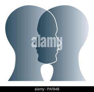 Mann auf das Fragezeichen-Symbol denken in einer Denker