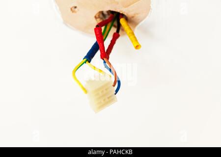 Elektrische Kabel, elektrische Leitungen, elektrischen Block ...