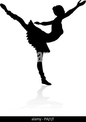 Ballet Dancer Silhouette - Stockfoto