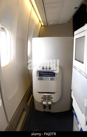 Platz für Club World Business-class Sitz auf British Airways Boeing 747-400 0806GRU - LHR BA 246 - Stockfoto