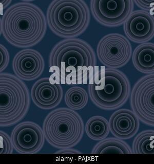 Die nahtlose Vektor gradient Umläufe dunkelblaue Muster für Gewebe, Keramik, Textil, Verpackung, Handwerk - Stockfoto
