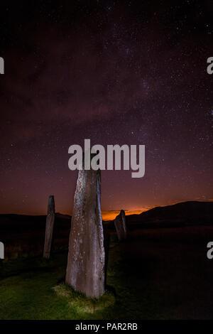 Machrie Moor Nachtsicht, Isle of Arran - Stockfoto