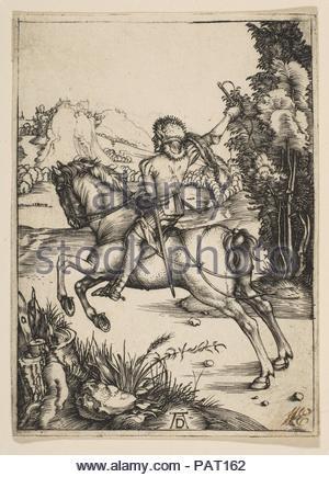 Der kleine Kurier. Künstler: Albrecht Dürer (Deutsch, Nürnberg 1471-1528 Nürnberg). Datum: n. d.. Museum: Metropolitan Museum of Art, New York, USA. - Stockfoto
