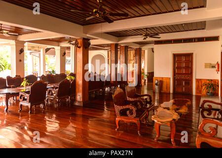 LUANG PRABANG, LAOS - Sep 25, 2014: Innenraum des Manoluck Hotel in Luang Prabang, Laos. Luang Prabang gehört zum UNESCO-Weltkulturerbe - Stockfoto