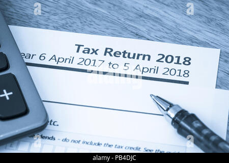 Self Assessment Steuererklärung Frist Erinnerung Uk Stockfoto Bild