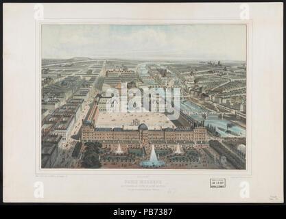 1168 Paris moderne. Les Tuileries, Le Louvre, et la rue de Rivoli, vue Prise du Jardin des Tuileries (nord-ouest) LCCN 2003670379 - Stockfoto