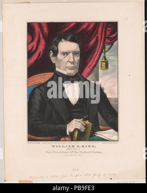 1858 William R. König - der demokratische Kandidat für den Vizepräsidenten der Vereinigten Staaten LCCN 2002698830 - Stockfoto