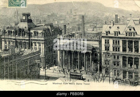 Rue saint jacques und bank of montreal montreal quebec kanada
