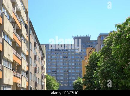 Sozialer Wohnungsbau in der Innenstadt von Berlin.