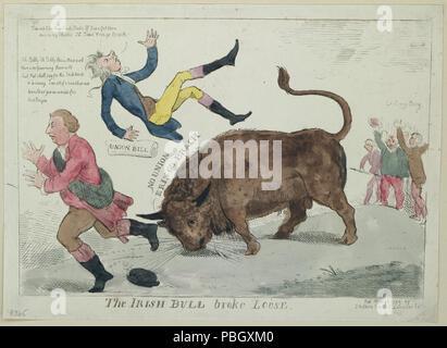 1646 Die irische Bulle brach lose LCCN 2004670133 - Stockfoto