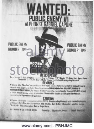 American Gangster AL CAPONE (1899-1947) eröffnet diese Chicago ...