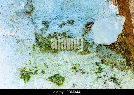 In der Nähe von rustikalen, verwitterte Außenwand in Mittelamerika. - Stockfoto