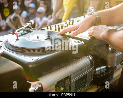 Dj Musik Sommerfest - Stockfoto