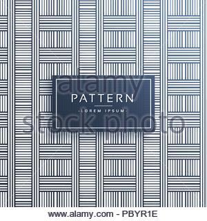 Linien abstraktes Muster Design Hintergrund - Stockfoto