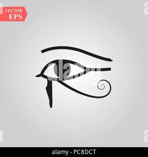 Sun Auge des Horus - rückwärts Mond Auge von Thoth Auge des Horus - Vektorbild alten ägyptischen Symbol des Schutzes eps 10. - Stockfoto