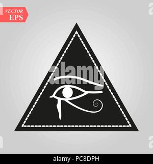 All seeing Eye, magische Element, Auge, Dreieck, Tattoo Design Vector Illustration eps 10. - Stockfoto