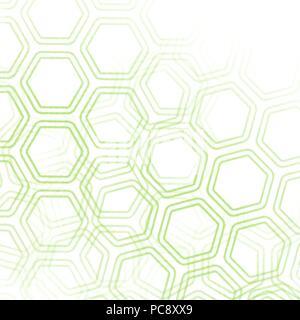 Green retro Hexagon Tapete Hintergrundmuster mit verblasste Bereiche, Vector Illustration - Stockfoto