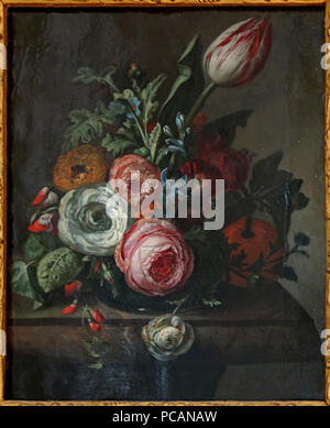 35 Lille pdba Rachel Ruysch Rosen tulipes - Stockfoto